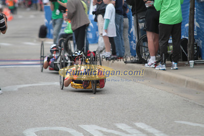 25K Wheelchair & Handcycle at Finish Line - 2012 Fifth Third River Bank Run