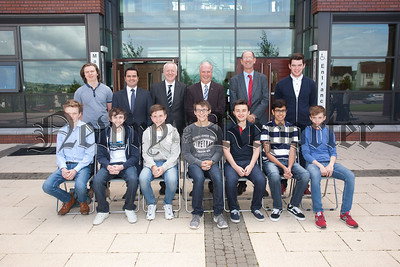 Mr Dermot McGovern, Headmaster Abbey Christian Brothers' Grammar School, Newry congratulates Abbey boys who achieved an outstanding 10 or more GCSE A*/A grades. Included are Ronan Burke, James McGovern, Tiarnan Burns, Ryan McKeown, Brian McAteer, Fintan McMahon, Eoghan Patterson, Niall Doran, Venkatesh Kamath. Also included are Mr Padraig McKeever, Year Tutor for Year 12, Mr Paul O'Shea and Mr Ronan Ruddy, Vice Principals. Missing from photograph are Aodhan McEvoy, Liam Rock, Daniel Kehoe. R1535022