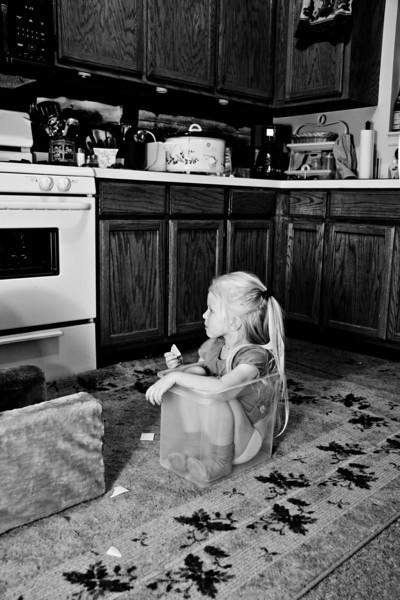 Chloe sat herself in this bucket - January 2010  100114_2098