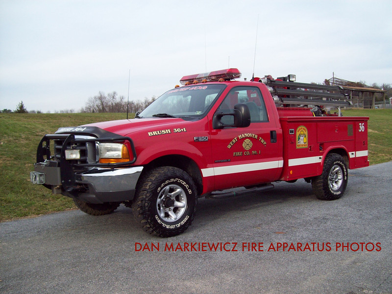 WEST HANOVER TOWNSHIP FIRE CO. BRUSH 36-1 1999 FORD/READING BRUSH UNIT