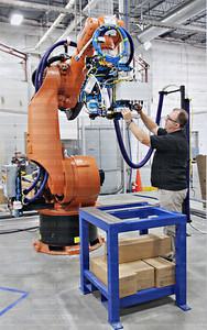 KUKA Systems robot and automated manufacturing technologies are helping to build Boeing's 777x widebody airliner