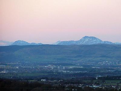 Sunset over Eaglesham - 29 January 2005