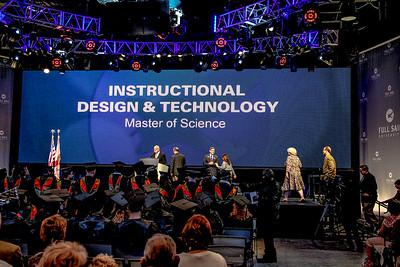 ceremony one grads walking