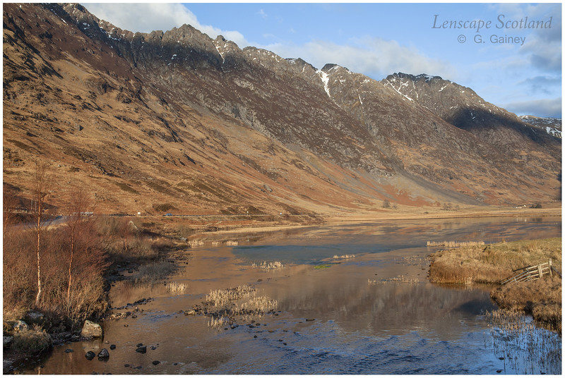 Loch Achtriochtan and Aonach Eagach in late afternoon sunshine (1)