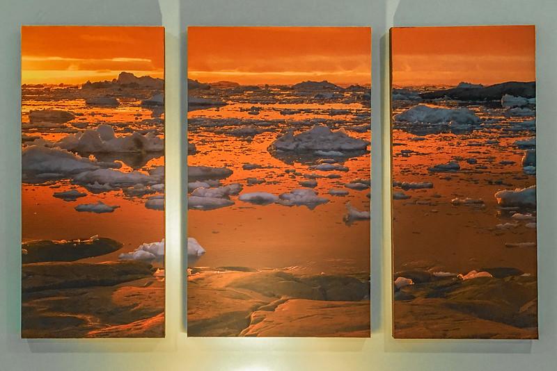 Non-Reflective Triptych, frameless