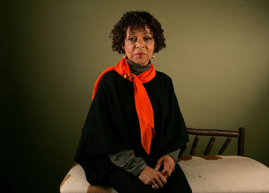 """. Actress Ruby Dee of the film \""""No. 2\"""" poses for a portrait at the Getty Images Portrait Studio during the 2006 Sundance Film Festival on January 21, 2006 in Park City, Utah.  (Photo by Mark Mainz/Getty Images)"""