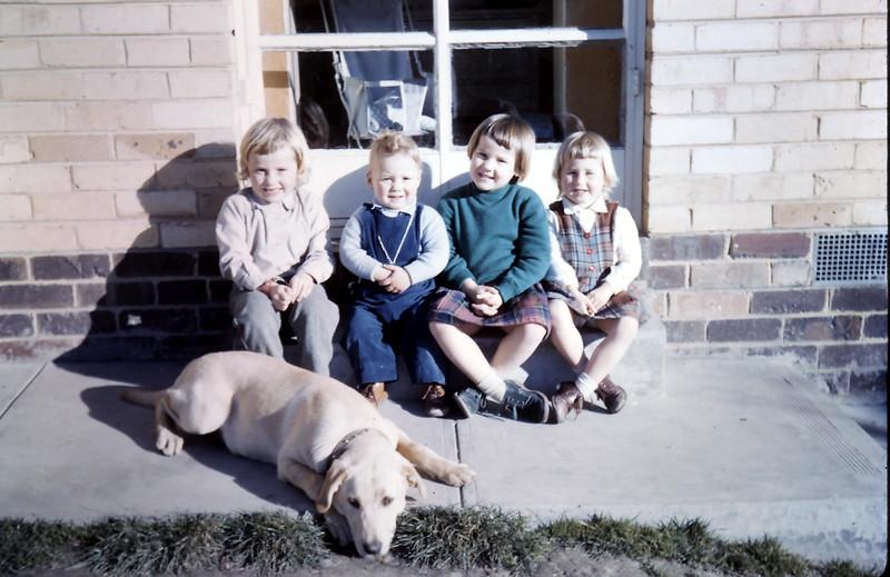 1960-7 (14) Joanne 5, Martin 1 yr 11 mths, Louise 4 & Debbie 3.JPG