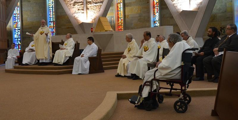 Fr. Ed. addresses the jubilarians