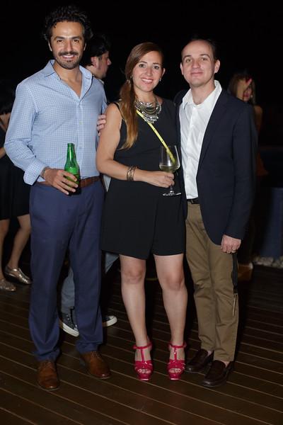 Jaime Origel, Barbara de Chaurand  y José Antonio Chaurand