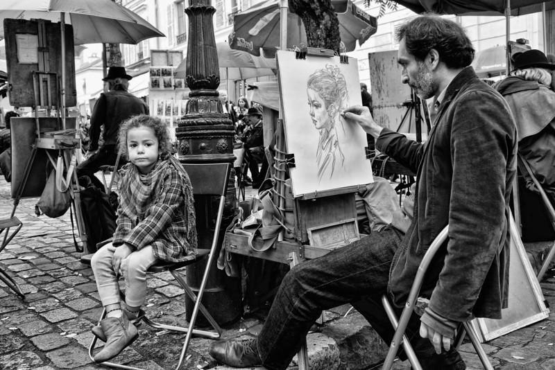 Artist w child B&W 00207.jpg