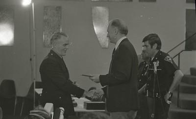 Mayor Hudnut Presents IPD Awards at City-County Council Chamber, Circa 1977, Img. 6