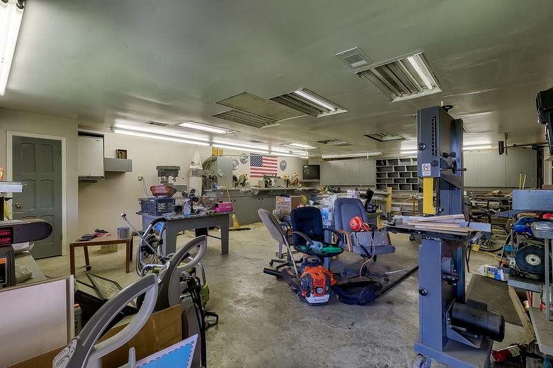 Woodworking Shop behind Garage
