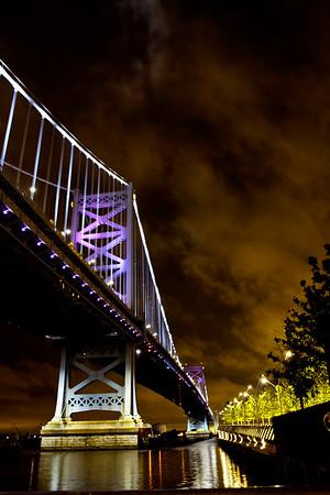 PA-Phila-Penn's Landing at Night Photos