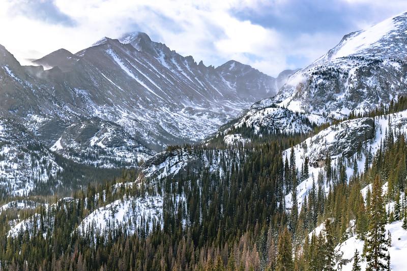 Long's Peak Above Glacier Gorge