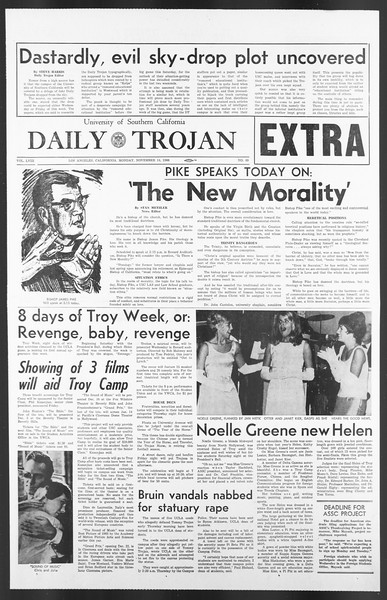 Daily Trojan, Vol. 58, No. 40, November 14, 1966
