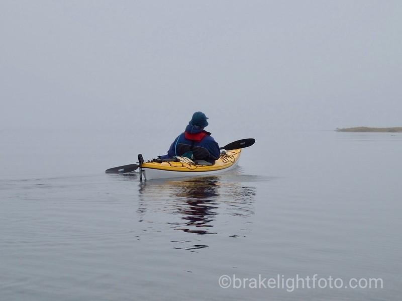 Crossing Blair Inlet in the Fog
