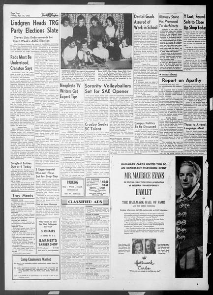 Daily Trojan, Vol. 44, No. 118, April 24, 1953