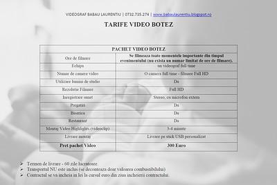 OFERTA VIDEO BOTEZ LAURENTIU BABAU