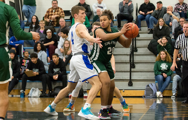 01/13/20 Wesley Bunnell | StaffrrBristol Eastern boys basketball hosted Maloney on Monday night January 13, 2019. Bryce Carlton (4).