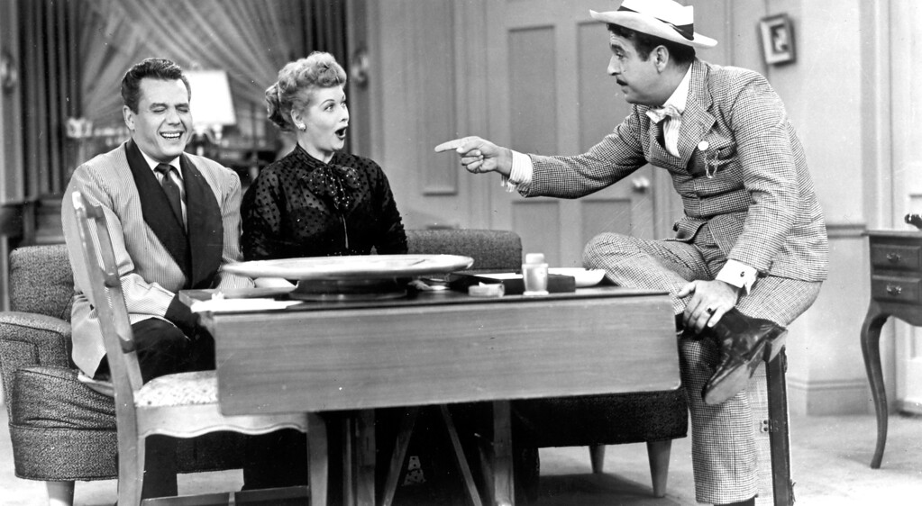 ". ""I Love Lucy\"" Desi Arnaz, Lucille Ball and Tennessee Ernie Ford.   Los Angeles Daily News file photo"