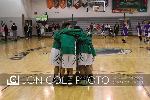 20150207 - CF Girls Basketball vs Lexington - Senior Night