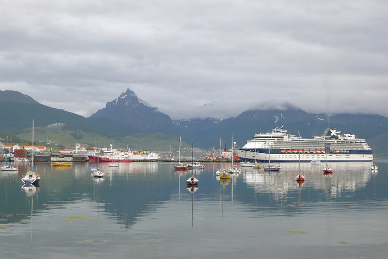large cruise ship Ushuaia harbor. This is where my new Graz friends were traveling on.