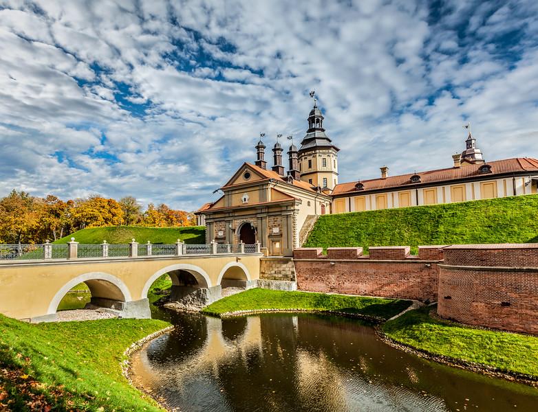 Nesvizh Castle - medieval castle in Nesvizh, Belarus