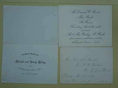 Invitations 1876 to 1926 undated