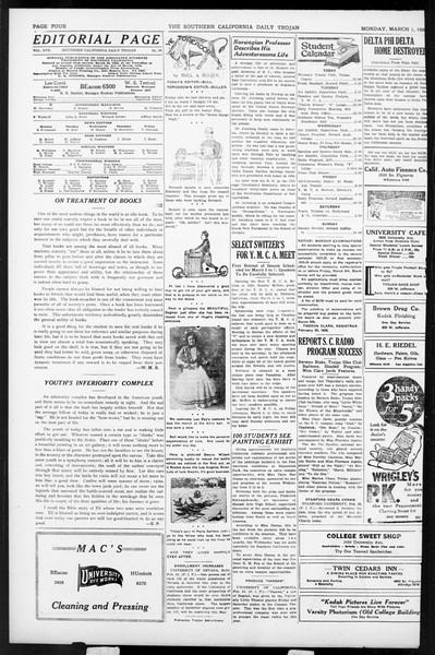Daily Trojan, Vol. 17, No. 98, March 01, 1926