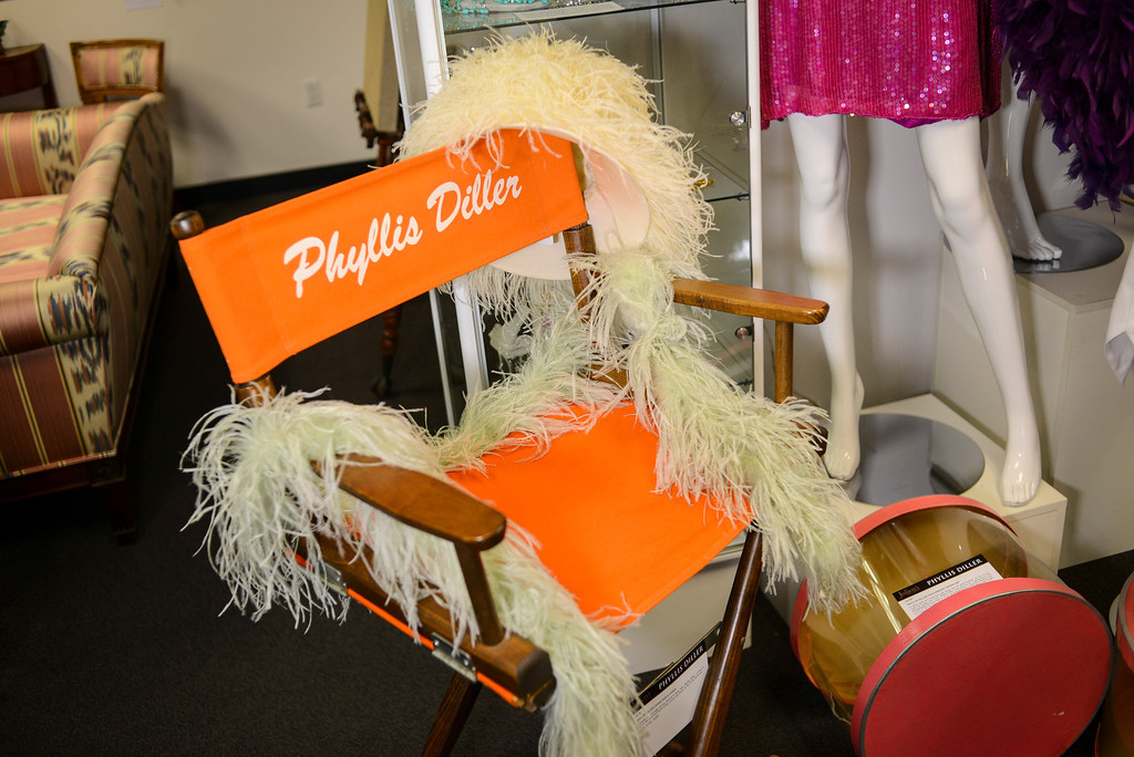 . A Phyllis Diller directors chair, one of the items from the estate of Phyllis Diller to be auctioned off by Julien\'s Auctions in Beverly Hills, CA.  September 9, 2013.  The auction is combined with an auction of Bob Hope items.    (Photo by David Crane/Los Angeles Daily News)