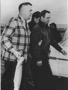 Marlon Brando being arrested at fish in