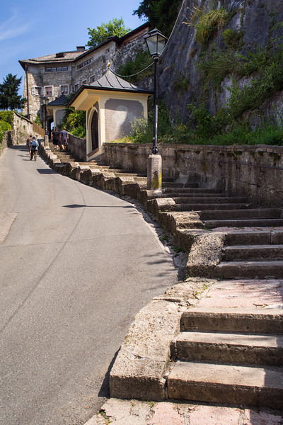 Path up to Kapuziner Monastery, Salzburg, Austria
