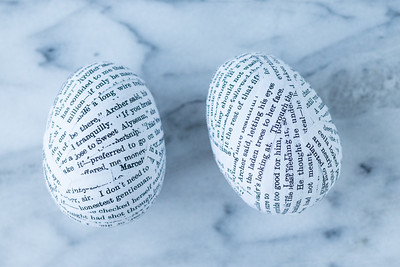 DIY Book Page Plastic Easter Eggs