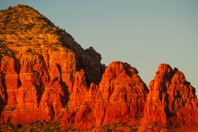 Red Rock Mountains of Sedona in the Evening