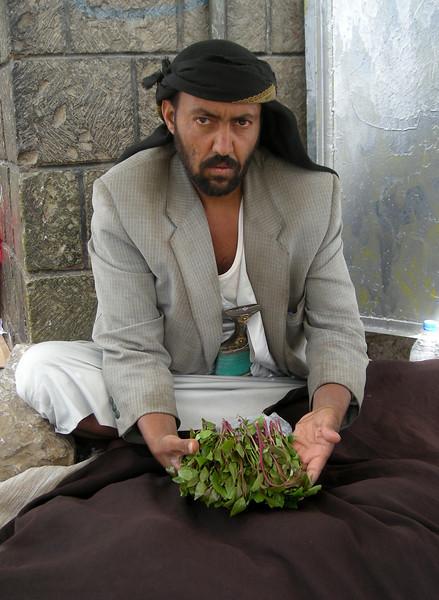 a gat seller in Sana'a