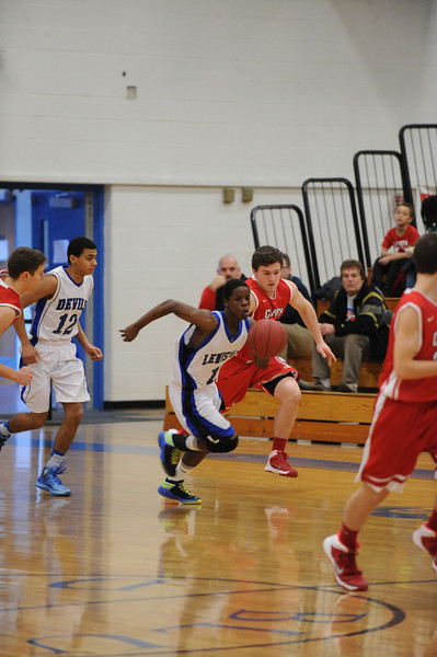 Cony at LHS varsity and JV basketball 01_20_14