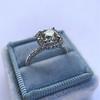 1.59ct Antique Cushion Cut Diamond Halo Ring GIA K VS2 9