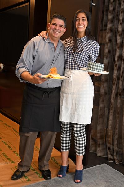 Chef, Stephanie Nass AVENUE MAGAZINE Presents the SALON DINNER & CONVERSATION with Architect and Designer DAVID ROCKWELL  10 Hudson Yards NYC, USA - 2017.10.17 Credit: Lukas Maverick Greyson