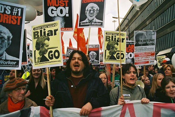 Manchester STW Demo outside Labour Conference March 2004