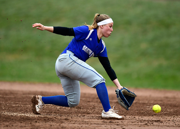 4/9/2019 Mike Orazzi   Staff Bristol Eastern's Alison Tellier (4) during Tuesday's softball game with Southington in Bristol.