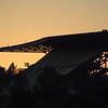 Husky Stadium at sunset