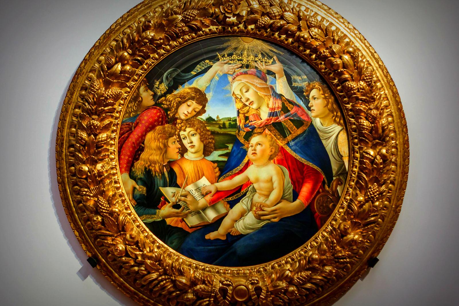 意大利佛罗伦斯乌菲兹美术馆, 目睹藏品