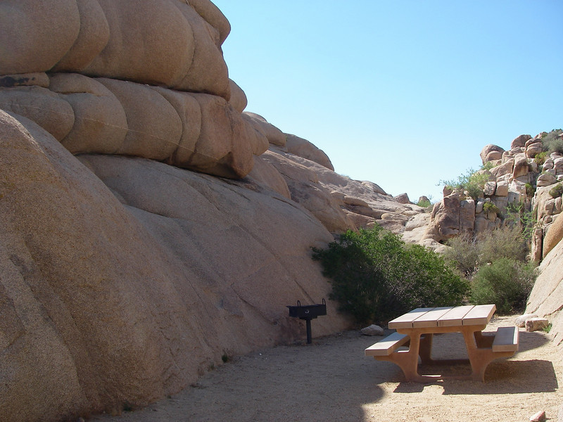 One of the camping spots