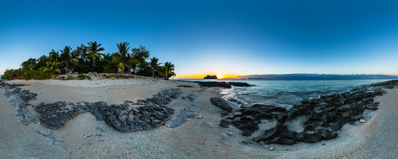 Beautiful Sunset at the Beach of Vomo Island Resort - Fiji Islands