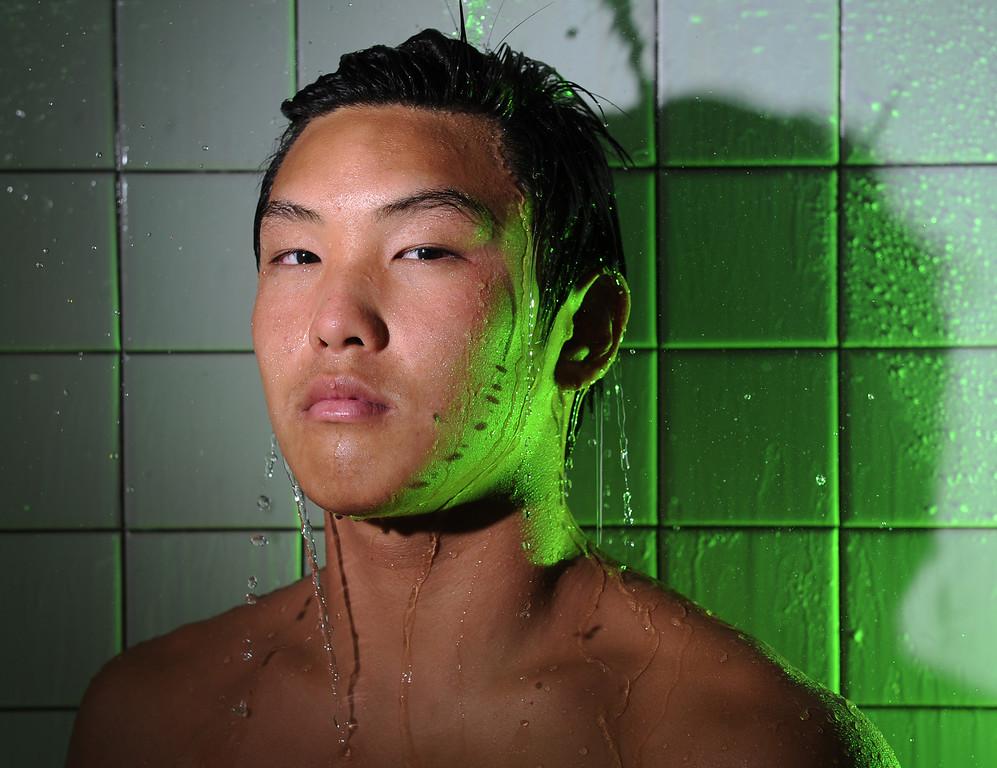 . Ed Jeon, Mira Costa swimming. Daily Breeze Swimmer of the Year. Photo by Brad Graverson 5-24-13