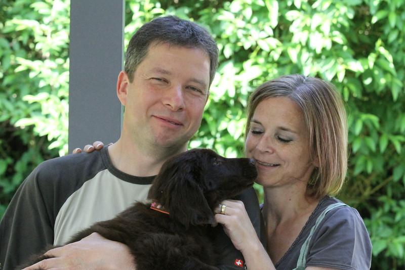 Karin, Beat, Sven+Jan mit Uma