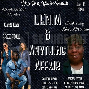 DA INNER CIRCLE DENIM & EVERYTHING AFFAIR 1-13-18