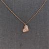.65ctw Rose Gold Askew Heart Mosaic Pendant 15