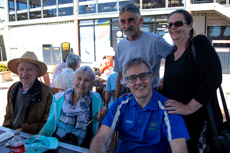 Canberra Yacht Club. March 2018 Rear: Brian Fisher, Kelly Fisher. Front: Anthony Holmes, Enid Holmes, Anthony Holmes.