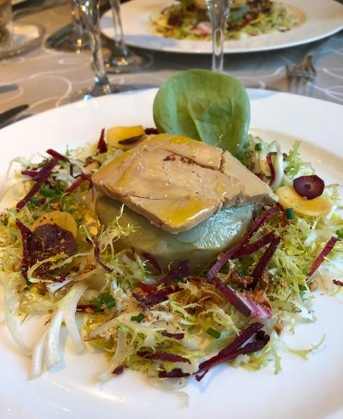 Fois gras on artichoke